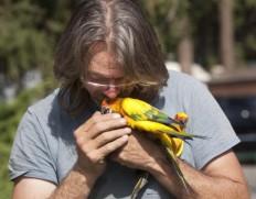 Chris Biro and parrot